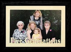 5x7 JUMBO GENERATIONS Landscape Picture Frame  ~  Three Generations, Four Generations or Five Genera