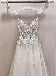 A line v neck lace tulle long prom dress, evening dress