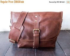 SUMMER SALES Brown color  Genuine Leather messenger  genuine