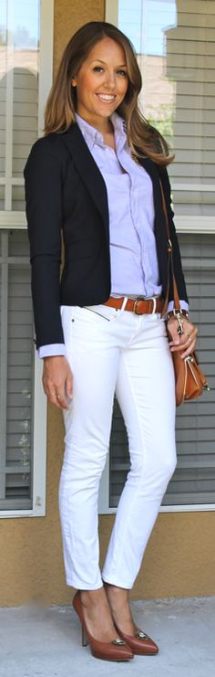 White jeans and navy blazer - good for after labor day?