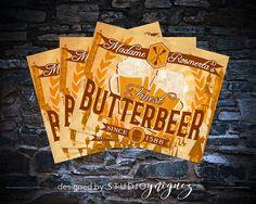 Harry Potter Butterbeer Printable Labels Instant by StudioYniguez