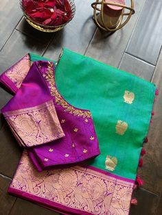 Kids Blouse Designs, Hand Work Blouse Design, Simple Blouse Designs, Blouse Designs Silk, Wedding Saree Blouse Designs, Half Saree Designs, Saree Wedding, Embroidery Works, Embroidery Blouses
