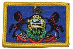 2x3.5 Patch Reflective Pennsylvania State Flag