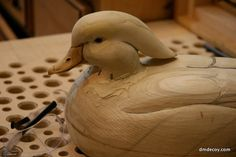 Step 8: Finishcarving - Carving Demo - DMDECOY - Hand Carved Wood and Cork Duck Decoys by Doug Muldowney