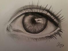 Un oeil - Fusain