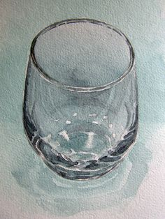 Glass in watercolour by Mad-Margaret.deviantart.com on @deviantART
