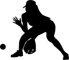 free clip art people sports silhouette baseball player rh pinterest com  softball player clipart images