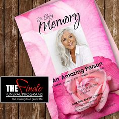 FUSCHIA ROSES ... printable funeral program by TheFinaleFnrlPrgrms