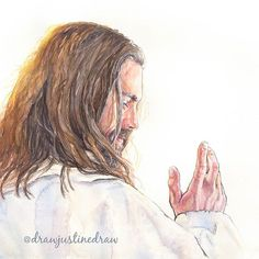 Images Of Christ, Pictures Of Jesus Christ, Jesus Art, God Jesus, Jesus Christ Drawing, Jesus Drawings, Watercolor Portraits, Watercolor Trees, Watercolor Landscape