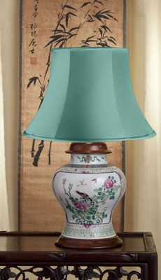 A Very Attractive Mid 19th Century Chinese Antique Lamp Of Curvaceous Style The