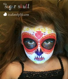 Easy Halloween Costume: The Sugar Skull! Need a last minute Halloween costume? Here you go! This was such a fun project for both mother and daughter!