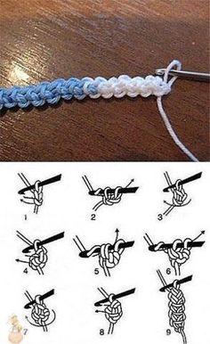 Best 12 Crochet Cord for Romanian Point Lace ~~ Novel Stitches Bracelet Crochet, Crochet Cord, Love Crochet, Irish Crochet, Crochet Lace, Crochet Flowers, Crochet Symbols, Crochet Stitches Patterns, Cordon Crochet