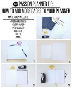 Are you going through your Passion Planner and finding that you need more pages because you're writing so much or you just need more room for your creativity??  Follow the link to find out how to add more pages to your planner: http://blog.passionplanner.com/post/131515981727/are-you-going-through-your-passion-planner-and