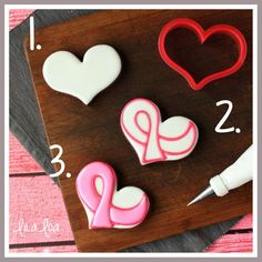 Use this cookie decorating tutorial to learn how to make Awareness Ribbon sugar cookies.