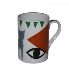 www.lalloronita.com  ceramics mug eye