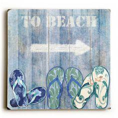 To Beach Flip Flop Sign