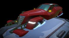 """3d game model Aircar """"Hover Limo"""" by derugin.s"""
