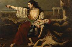 Σκηνή από την Έξοδο του Μεσολογγίου - «Η αυτοθυσία της μάνας», 1828, Francois-Emile de Lansac (1803-1890), Δημοτικό Μουσείο Μεσολογγίου