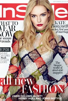 Kate Bosworth stuns in an array of sequins, textures, and embellished looks. // Kate Bosworth InStyle UK September 2014 - love this dress. V Magazine, Fashion Magazine Cover, Fashion Cover, Instyle Magazine, Magazine Covers, Magazine Stand, Katie Holmes, Marie Claire, Cosmopolitan