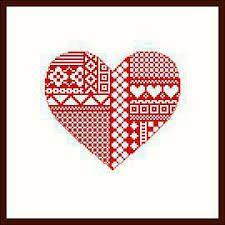 Resultado de imagen para valentines cross stitch
