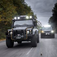 Land Rover Defender 110 Extreme Black for James Bond Movie 'Spectre'