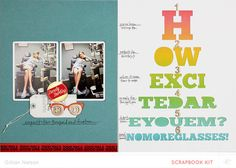 No more glasses scrapbooking layout