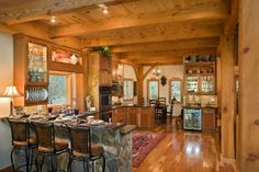 Check out the overhead woodwork!