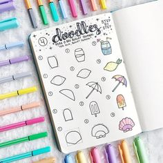 21 Surprisingly Simple Summer Doodle Art For Beginners Tutorials! 21 Surprisingly Simple Summer Doodle Art For Beginners Tutorials! – … 21 Surprisingly Simple Summer Doodle Art For Beginners Tutorials! Bullet Journal Art, Bullet Journal Ideas Pages, Bullet Journal Inspiration, Bullet Journals, Doodle Inspiration, Doodle Art For Beginners, Easy Doodle Art, Doodle Doodle, How To Draw Doodle