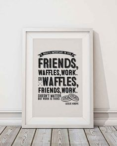 Leslie Knope Quote Frame