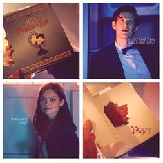 """Clara? In your book there was a leaf, why?"" ""That wasn't a leaf, that was page one."" {gif}"