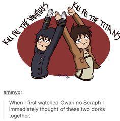 Haha they both kinda have the same goal