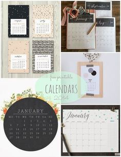 Free Printable Calendars for 2014