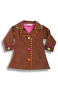 Flower corduroy jacket with ric rack detail $75.00