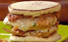 Turkey Bacon Double Cheeseburgers