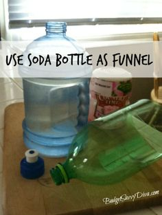 How to Use a Plastic Bottle as a Funnel