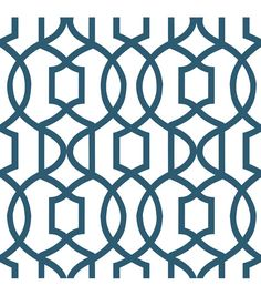 WallPops® NuWallpaper™ Navy Grand Trellis Peel And Stick Wallpaper