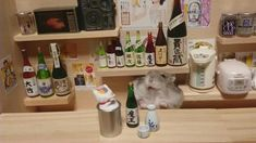 Ginji the Hamster Photographed in Miniature Japanese Bars and Rooms