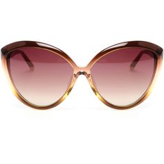 LINDA FARROW Oversized Cat-eye Acetate Sunglasses