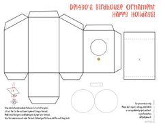 vogelhaus schachteln papier pinterest vorlagen papier und kinderkram. Black Bedroom Furniture Sets. Home Design Ideas