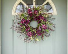 camille-- Summer Wreath - Summer Door Wreath $45     21 inches