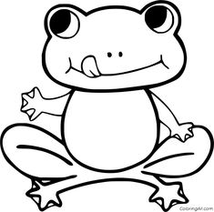 55 free printable Frog coloring pages in vector format, easy to print from any device and automatically fit any paper size. Frog Coloring Pages, Animal Coloring Pages, Funny Frogs, Cute Frogs, Frog Outline, Small Frog, Frog Crafts, Poison Dart Frogs, Simple Tree