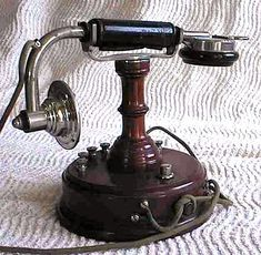 Early telephone during the Gilded Age, for the wealthy socialite. 1880-1890