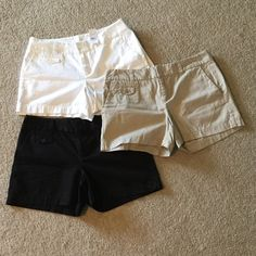 Cute, yet casual shorts  Fun and relaxing shorts to wear to run errands or hangout at a barbecue  You can dress them up too  The white shorts still have the tags on them. You can purchase altogether or separately. Separately sold at $25 a piece. LOFT Shorts