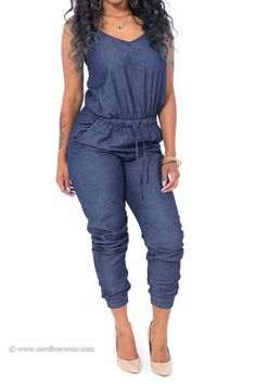 Dark Rinse Denim Jumpsuit #Nerdboywearcom #Jumpsuit
