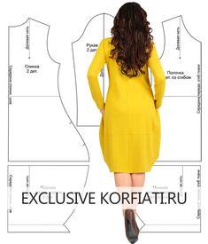 Оригинальное платье-баллон выкройка