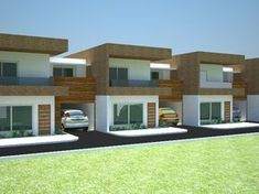 Terrace House Exterior, Townhouse Exterior, Facade House, Row House Design, Duplex House Design, Home Design Floor Plans, Home Building Design, House Construction Plan, Modern Exterior House Designs