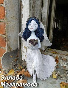 Купить Кукла Эмили, мертвая невеста. - голубой, невеста, Труп невесты, Эмили, кукла в подарок