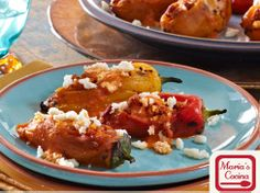 Cacique Sweet Chiles Stuffed with Chorizo Picadillo & Queso Fresco with Fire-Roasted Red Bell Pepper Sauce | Cacique USA