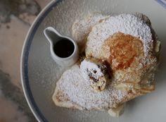 ricotta hotcakes, banana & honeycomb butter Granger & Co