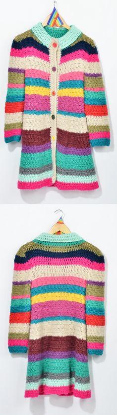 Tapado con rayas tejidas multicolor de las bolivianas - $780